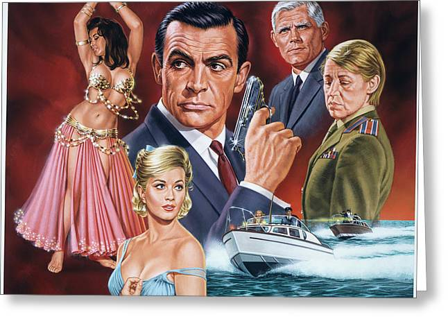 From Russia With Love Greeting Card by Dick Bobnick