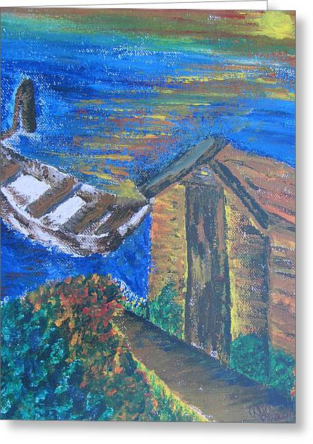 From Sea To Sun Greeting Card by Debbie Nester