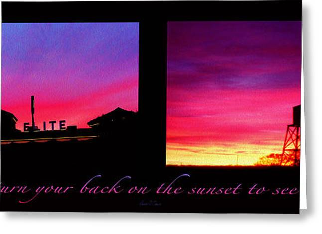 From Sunset To Sunrise Greeting Card