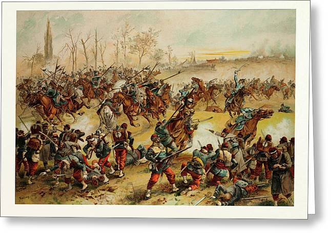 From The Battle Of St. Quentin On The 19th Of January 1871 Greeting Card