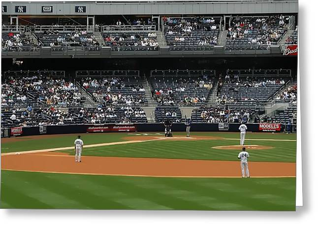From The Bleacher Creatures Greeting Card by John Delong