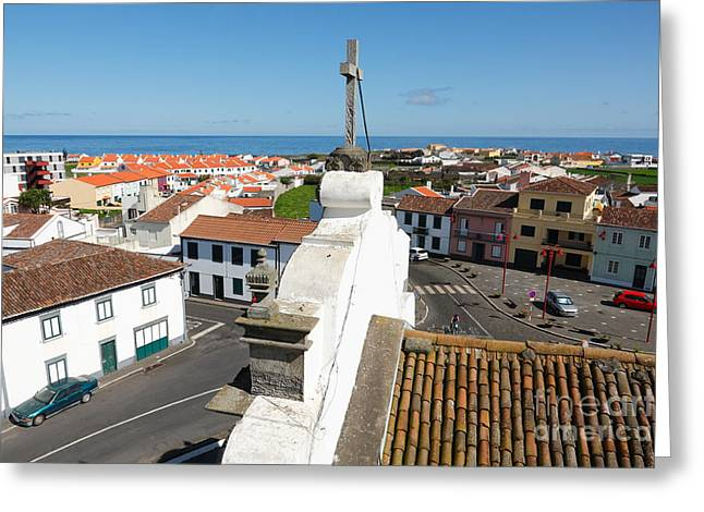 From The Church Tower Greeting Card by Gaspar Avila