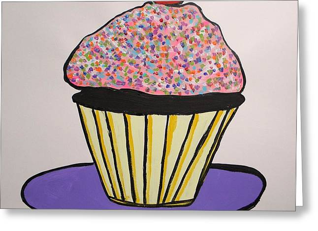 Greeting Card featuring the painting From The Cupcake Cafe by John Williams