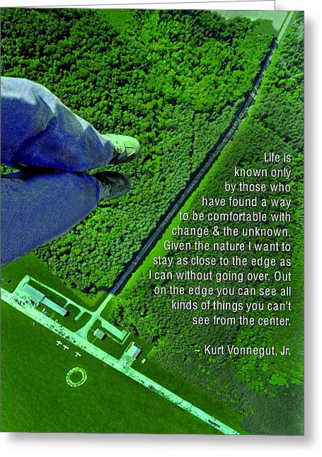 From The Edge Greeting Card