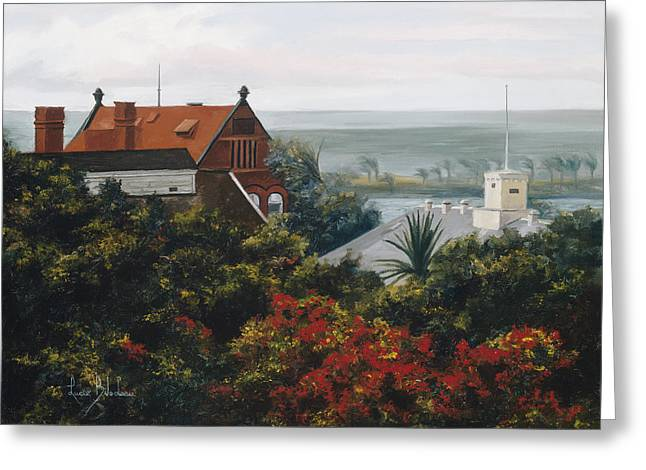 From The Holiday Inn - Key West Greeting Card by Lucie Bilodeau