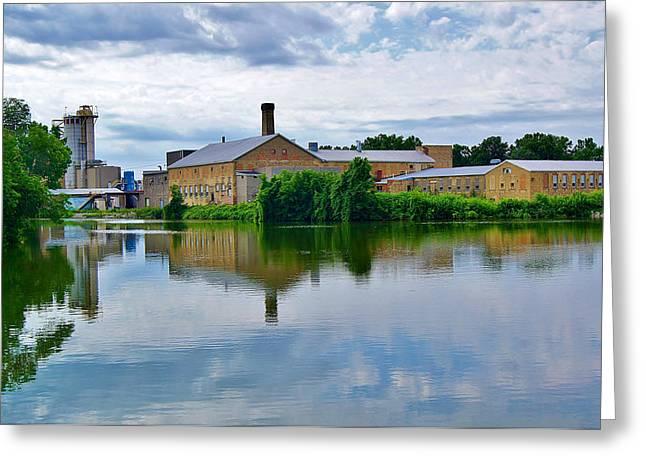 From The Menasha Park Lock On The Fox River Greeting Card by Carol Toepke