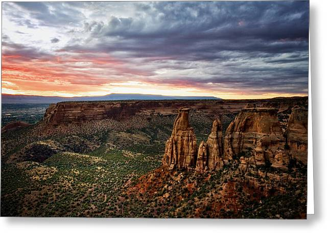 From The Overlook - Colorado National Monument Greeting Card