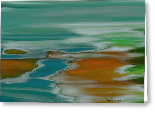 From The River To The Sea Greeting Card by Lenore Senior