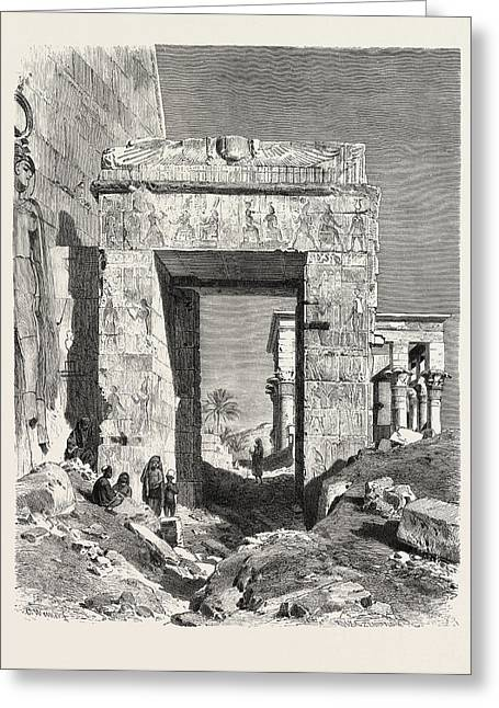 From The Temple Of Isis At Philae Greeting Card by Litz Collection