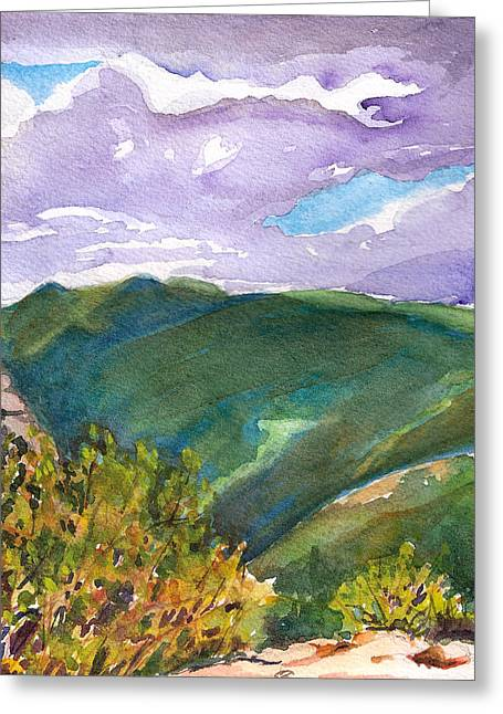 Greeting Card featuring the painting From Tuckerman's Ravine by Susan Herbst