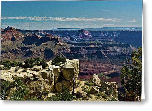 Greeting Card featuring the photograph From Yaki Point 2 Grand Canyon by Bob and Nadine Johnston