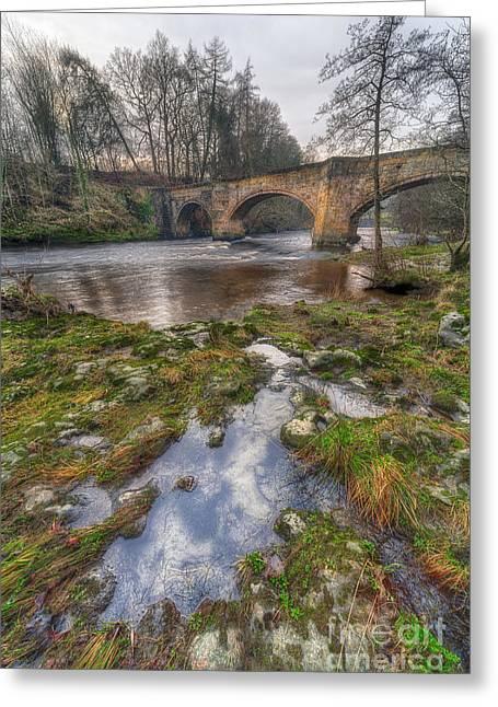 Froncysyllte Bridge Greeting Card by Adrian Evans