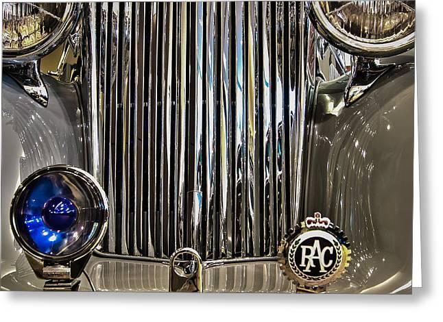 Front Detail 1947 Jaguar Greeting Card