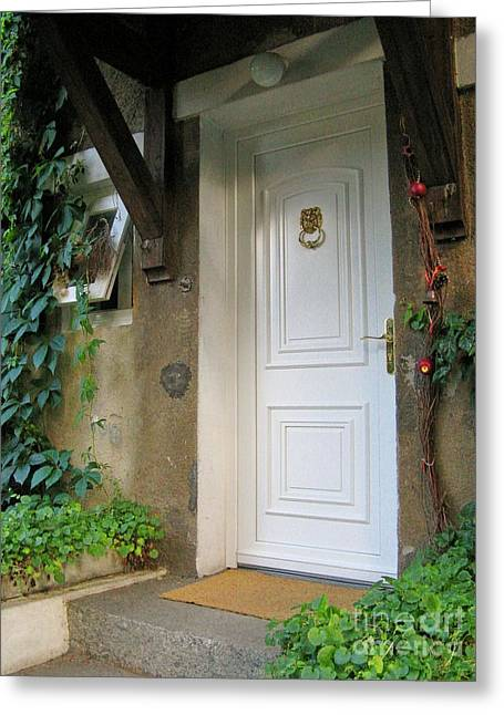 Greeting Card featuring the photograph Front Door by Arlene Carmel
