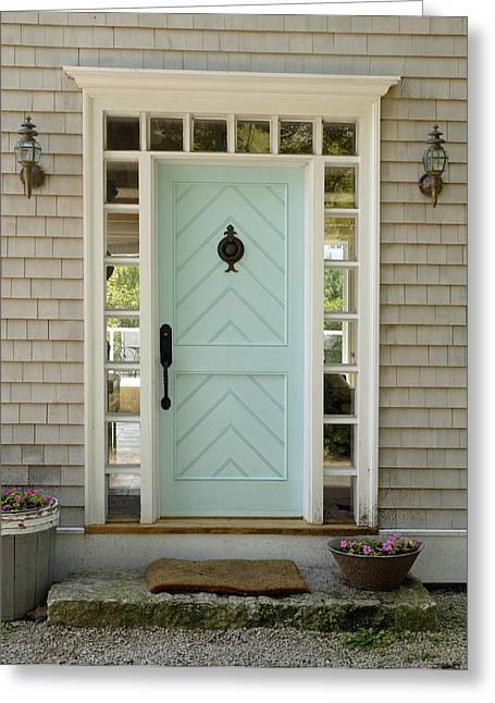Front Door Greeting Card by Norman Pogson