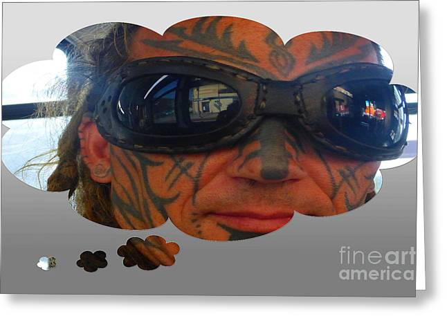Front Face Tattoo Greeting Card