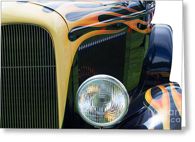 Greeting Card featuring the photograph Front Of Hot Rod Car by Gunter Nezhoda