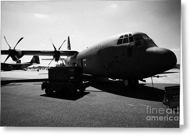 Front Of United States Air Force Aetc Cc130j Hercules Aircraft C130 C 130 Greeting Card by Joe Fox