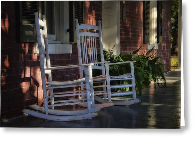 Front Porch Rockers Greeting Card
