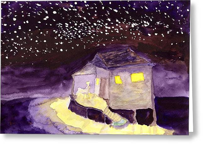 Front Porch Stars Greeting Card