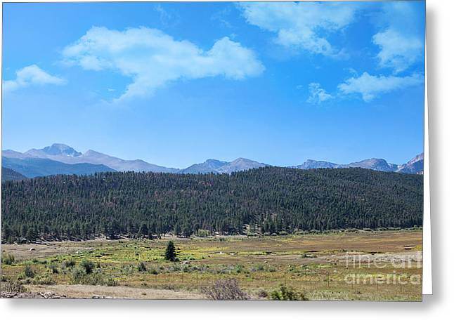 Front Range Rockies Greeting Card by Kay Pickens