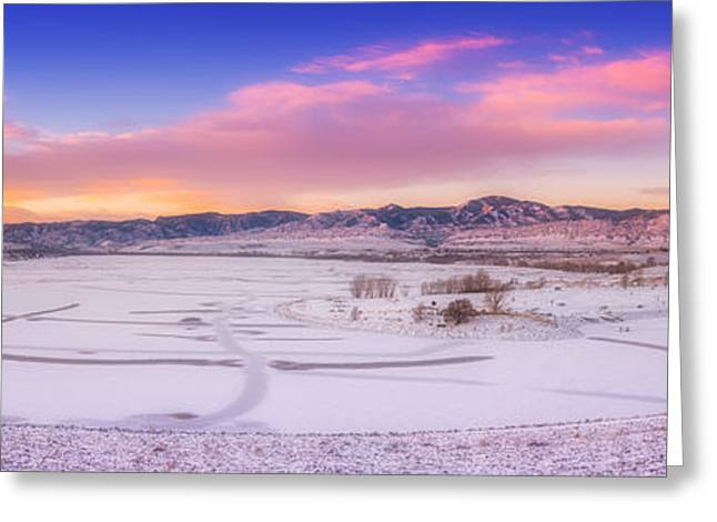 Front Range Sunrise Greeting Card