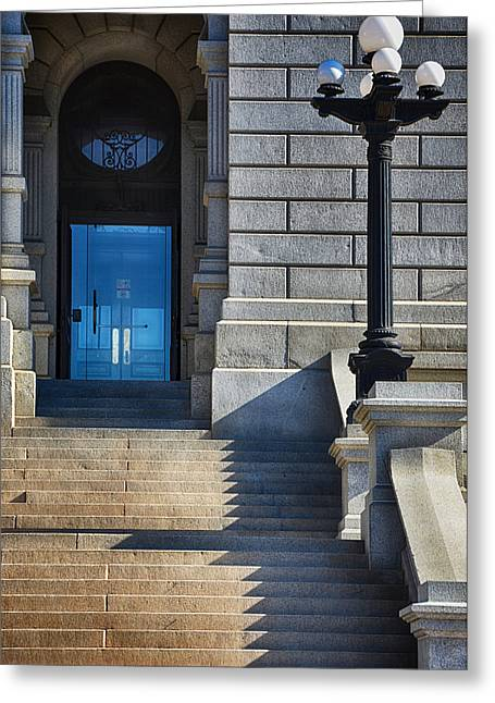 Front Steps Denver State Capitol Building Greeting Card by Angelina Vick
