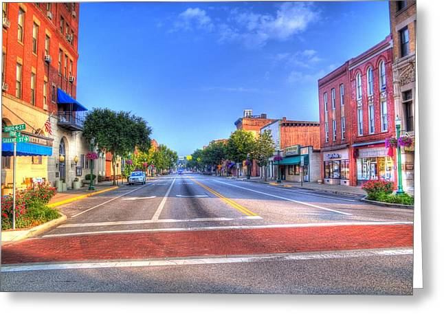 Front Street Marietta Greeting Card by Jonny D