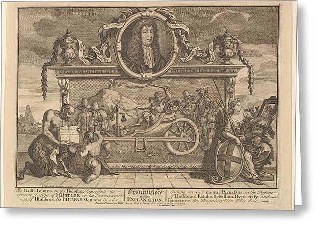 Frontispiece And Its Explanation Twelve Greeting Card