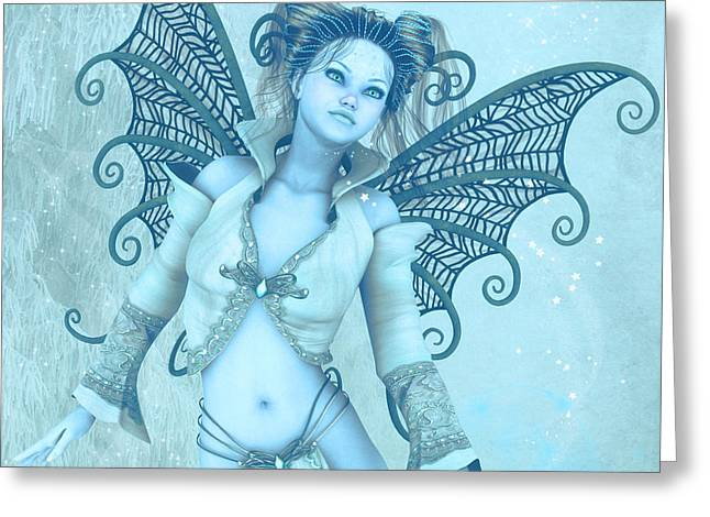 Frost Fairy Greeting Card by Jutta Maria Pusl