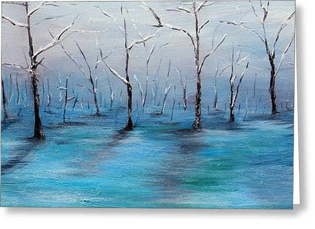 Frost Like Ashes Greeting Card by Meaghan Troup