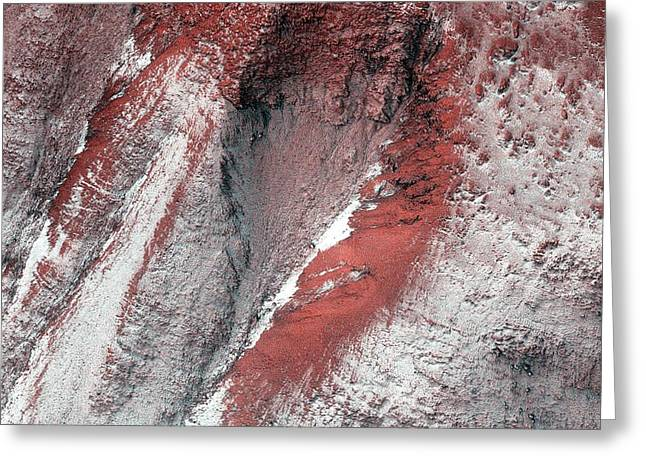 Frost On Mars Greeting Card