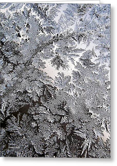 Frosted Glass Abstract Greeting Card by Christina Rollo