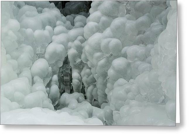 Frosted Waterfall Greeting Card