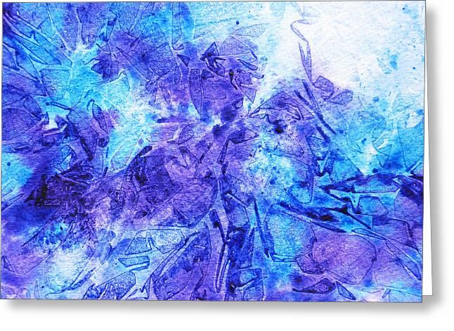 Frosted Window Abstract I   Greeting Card by Irina Sztukowski
