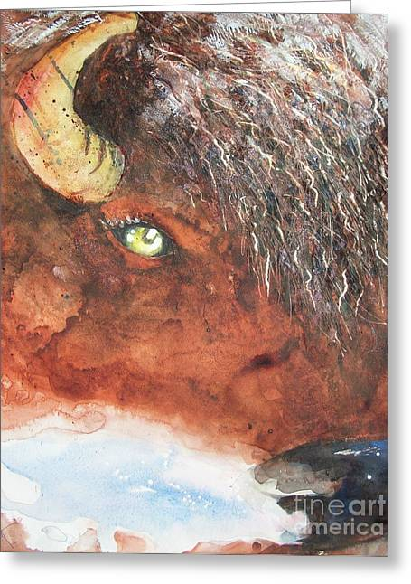 Frosty Bison Breath Greeting Card