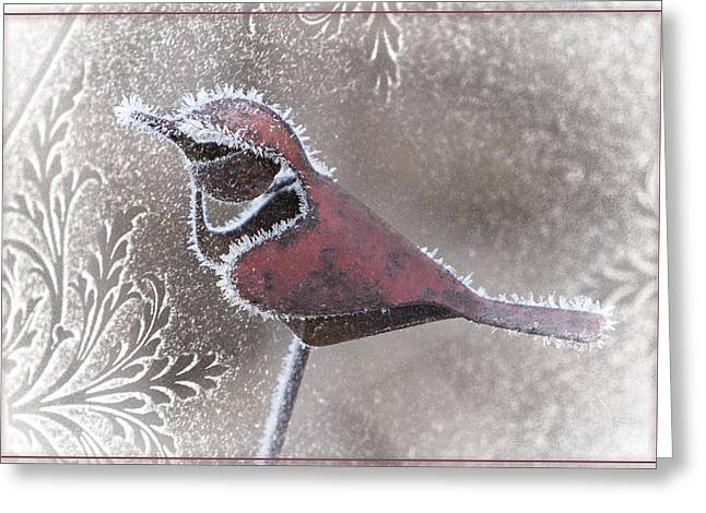 Greeting Card featuring the photograph Frosty Cardinal by Patti Deters