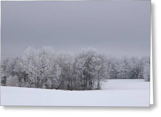 Frosty Farm Fields Greeting Card