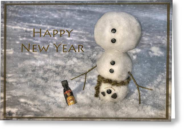 Frosty Happy New Year Greeting Card by Lori Deiter
