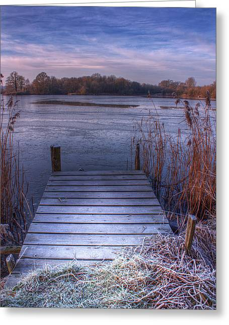 Frosty Jetty Greeting Card