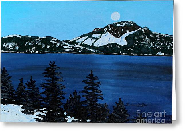 Frosty Moonlit Night Greeting Card