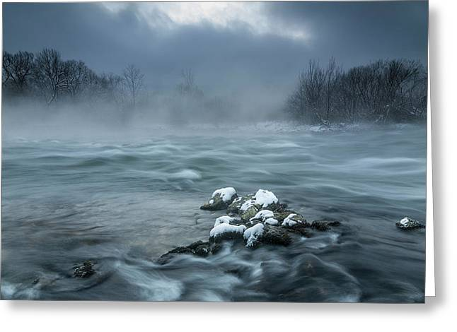 Frosty Morning At The River Greeting Card