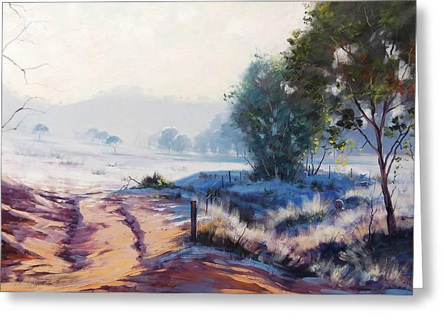Frosty Morning Hampton Greeting Card by Graham Gercken