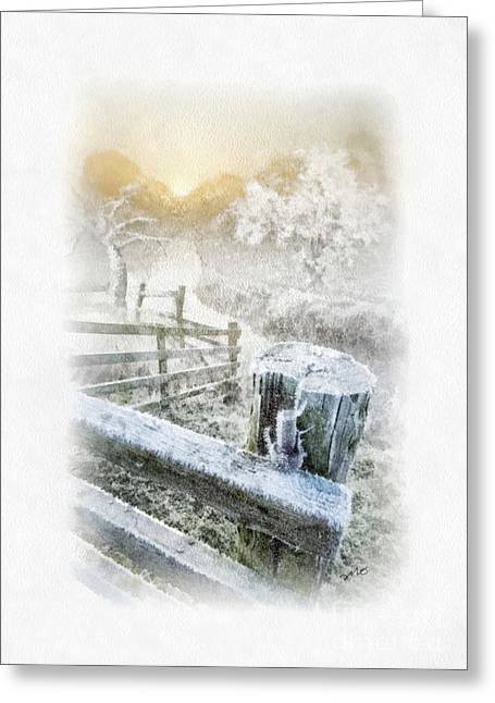 Frosty Morning Greeting Card by Mo T