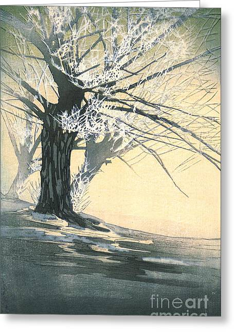 Frosty Tree 1920 Greeting Card by Padre Art