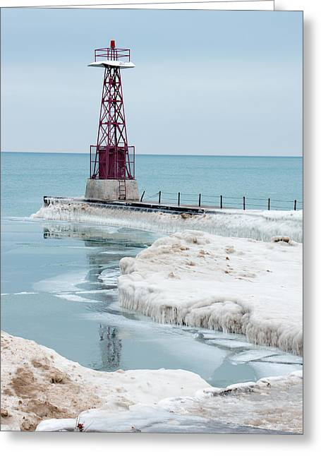 Frozen Beach Greeting Card