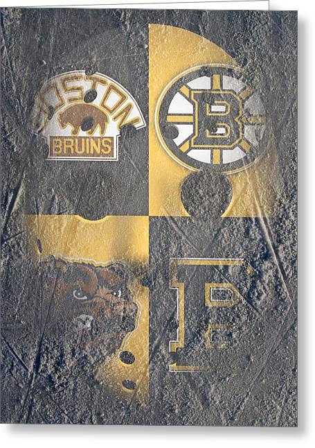 Frozen Bruins Greeting Card by Joe Hamilton