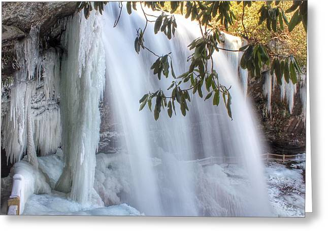 Frozen Dry Falls Greeting Card