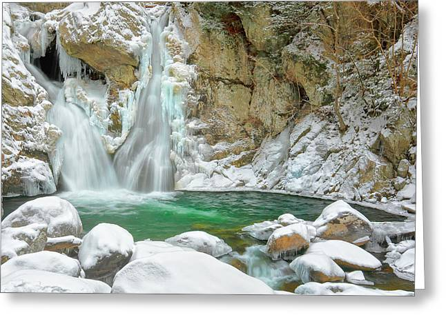 Frozen Emerald Greeting Card by Bill Wakeley