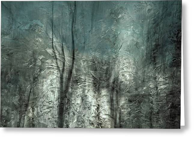 Frozen Frost Wood Greeting Card